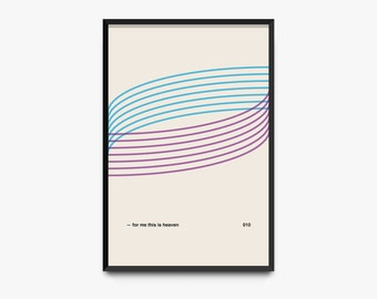 For Me This Is Heaven — Minimal Posters, Modern Wall Art, Contemporary, Jimmy Eat World