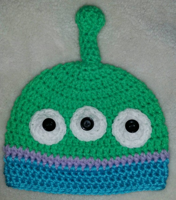 Toy Story Inspired Green Alien Hat by KaylasCrochetCove on ...