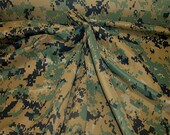Digital Camouflage Polyester Fabric By The Yd