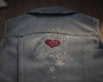 Silver Star - Girls Denim Vest