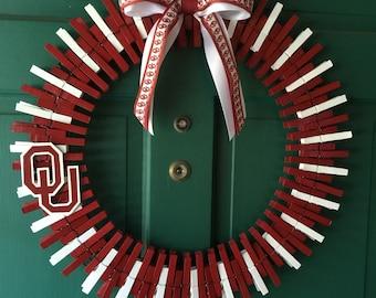 Oklahoma Sooners Wreath! Go Sooners!!