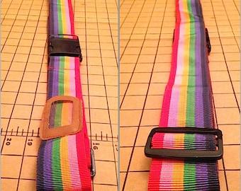 Vintage 1980s Rainbow Luggage Strap