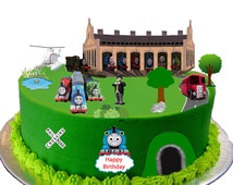 Thomas The Tank Engine Scene made From Premium Edible Wafer Paper - Cake Topper decoration