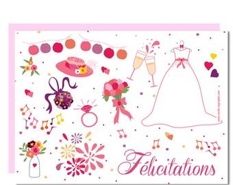Postcard Félicitation