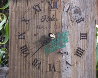 Relax There's Plenty of Thyme clock