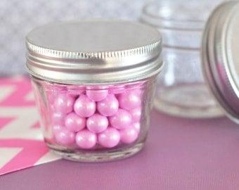DIY Blank Small 4 oz Mini Mason Jars (Set of 24)