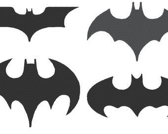 Collection of Batman Logo Embroidery Designs