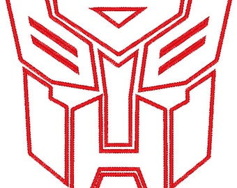 Transformers Autobot Decepticon Applique - 2 Large Hoop Sizes