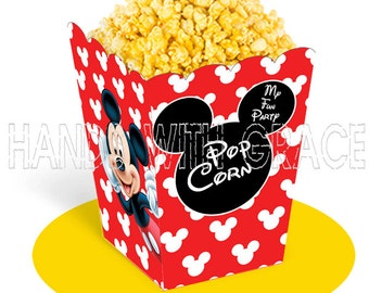 Printable popcorn box Micky Mouse