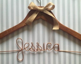 Rustic hanger, Rustic bridal hanger, Wedding Bridal Hanger, Personalized Hanger, Bridal Party Hanger, Custom Hanger, Rustic wedding hanger