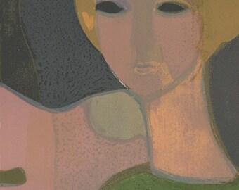 André Minaux  (1923-1986) Original Mid-Century Lithograph