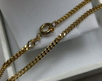 333 chain of gold curb chain 50 cm, 2 mm GK101