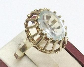 585er gold ring spinel gemstone antique 17.8 GR103