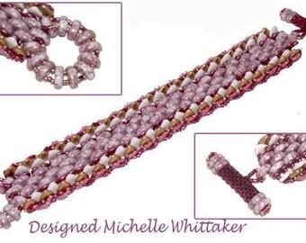 Half Moon River Bracelet Needlework Bracelet Tutorial PDF