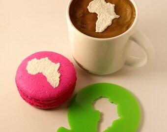 Stencil, Africa, Coffee Stencil, Cookie Stencil, Custom Stencil