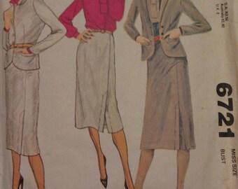 McCall's Pattern no. 6721 size 12