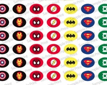 Super Hero 12x16mm Paracord Shoelace Charm Template Image Download
