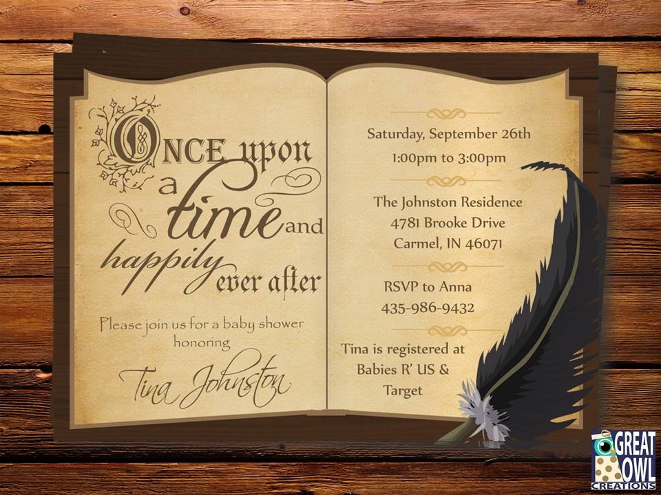Storybook Themed Baby Shower Invitations was very inspiring ideas you may choose for invitation ideas