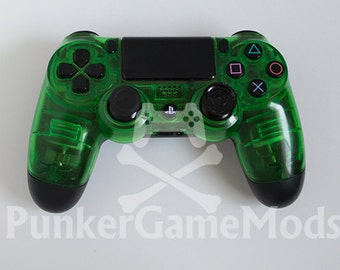 Translucent Green PS4 controller