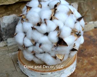 Cotton Ball-Cotton Boll-Rustic Wedding-Centerpiece Decor Wedding-Fixer Upper~Bridesmaid Bouquet-Ball