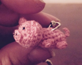 Little Miss Piggy! Pig keychain, pink keychain, little pig, cute little pig wa