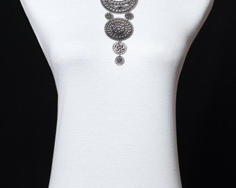 Ethnic style necklace antique silver