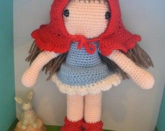Red riding hood crochet doll