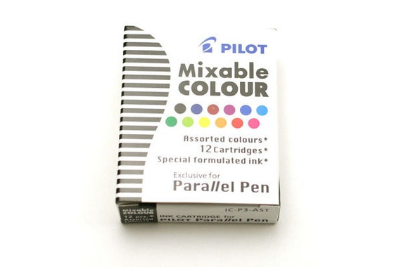 Pilot Parallel Calligraphy Pen Refill 12 Colors Assorted Ink