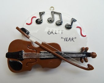 Violin Personalized Music Ornament - Personalized Ornament for a Violinist