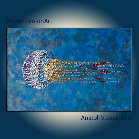 Jellyfish 36 Large ORIGINAL Abstract Acrylic by ...