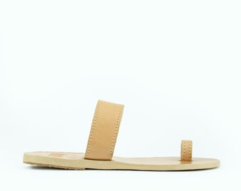 Toering Natural Leather Color Sandals - Greek Handmade Toerings Sandals - 18 colors available