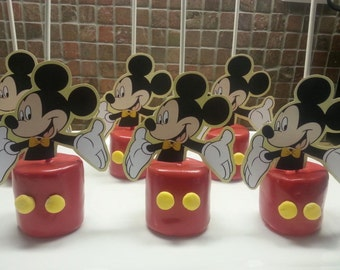 Mickey Mouse Marshmallow Topper, Cake Pop Topper, Cupcake Toppers, Cupcake Picks