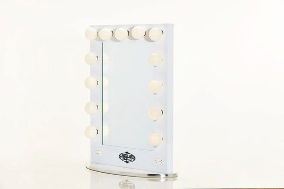 broadway lighted vanity mirror white by hollywoodvanitygirl