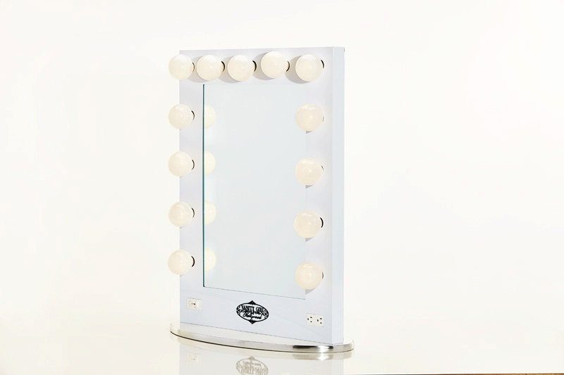 Vanity Mirror With Lights White : Broadway Lighted Vanity Mirror White by HollywoodVanityGirl