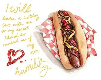 Hot dog Giclee print