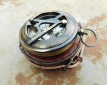 2.5 inch sundial antique compass, pocket compass,steampunk decor