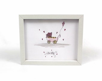 New Baby Illustration Gift