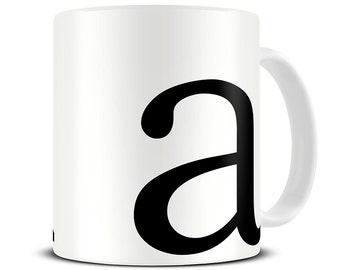 monogrammed mug personalized typography letter coffee mug initial mug letter mug alphabet mugs his and hers mugs mg305