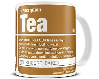 Personalised Prescription Tea Mug - personalised gift for tea lover - funny custom mug - MG091