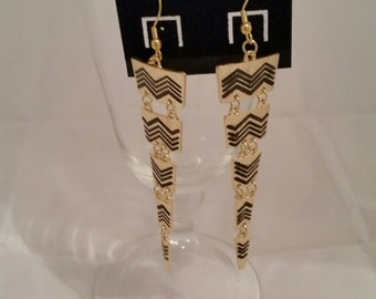Dangle Earrings- Gold Tone