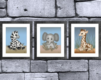 Safari Baby Animal Print Set of 3