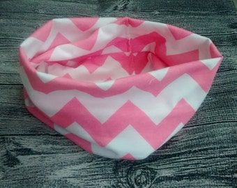 Infinity scarf - pink herringbone