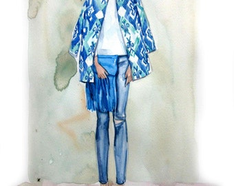 Fashion Illustration Print. Eva.b