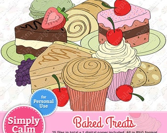 Baked Treats Clipart for PERSONAL USE