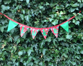 Personalised two sided fabric bunting...