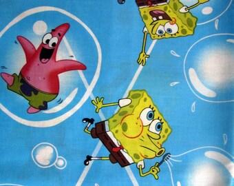 "1 Yard 16"" Spongebob Square Pants  Patrick Fabric Remnant/Bolt end 1265"