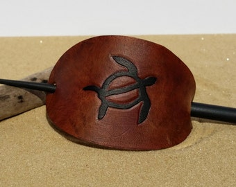 Hawaiian Turtle Leather Hair Piece