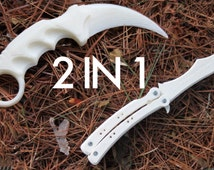 Karambit and Butterfly Knives 2x COMBO PACK -  3D Printed (Cosplay, Costuming)