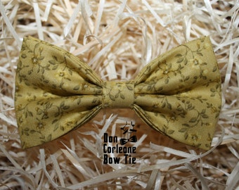 Paolo Bow Tie with yellow flowers
