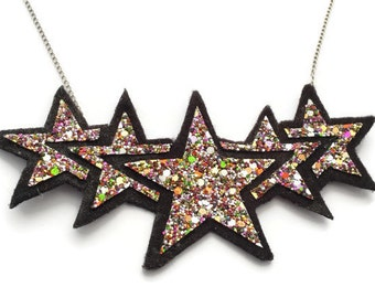 Star Rainbow Glitter Necklace